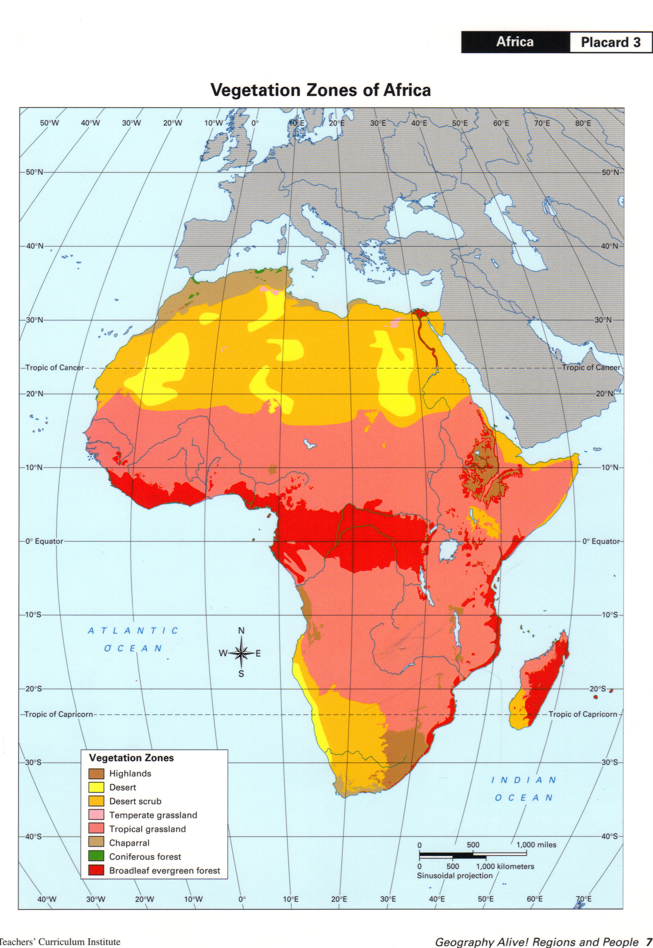 geography alive africa map