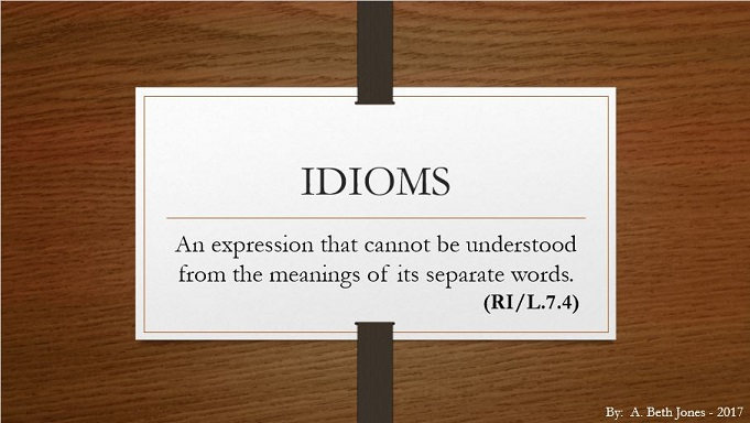 Idioms - A Languanaut PowerPoint
