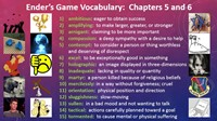 Ender's Game Chapter 5-6 Vocabulary