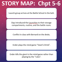 Ender's Game Story Map Chapters 5-6