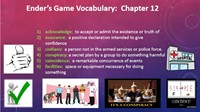 Ender's Game Chapter 12 Vocabulary