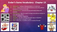 Ender's Game Chapter 13 Vocabulary