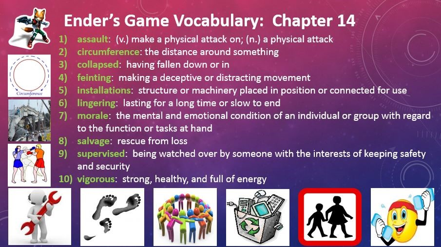 Ender's Game Chapter 14 Vocabulary