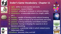 Ender's Game - Vocabulary Chapter 11