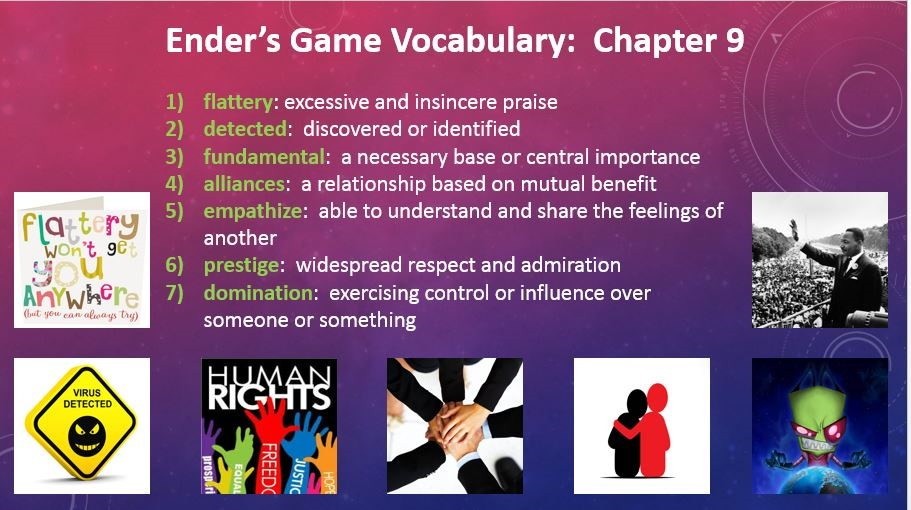 Ender's Game - Vocabulary Chapter 9