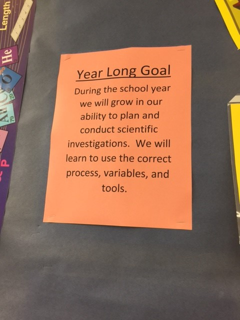 year long science goal